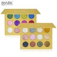 Fashion Eye Beauty 12 Colors Glitters Eyeshadow Diamond Rainbow Make Up Cosmetic Pressed Glitters Eye Shadow