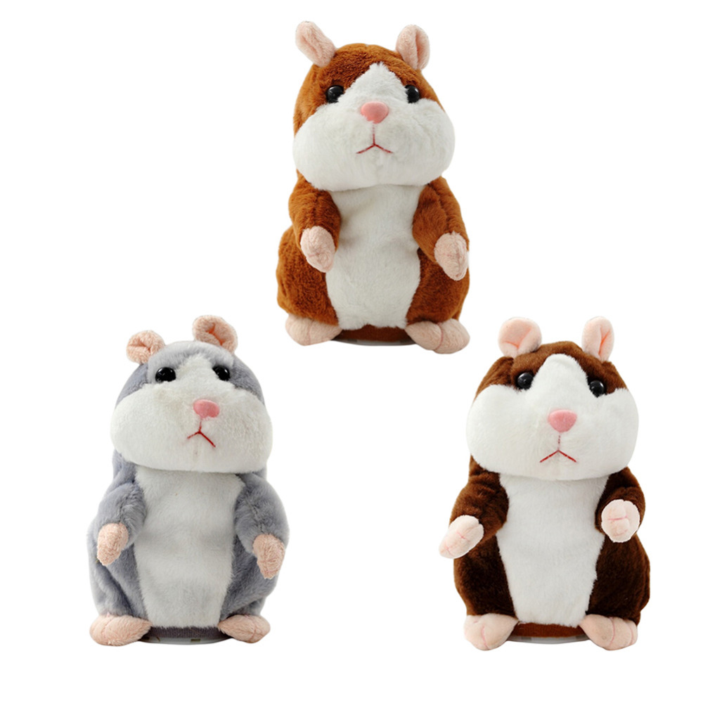 Cute Talking Hamster Speak Talk Sound Record Repeat Kawaii Hamster Stuffed Plush Animal Doll Toy for children