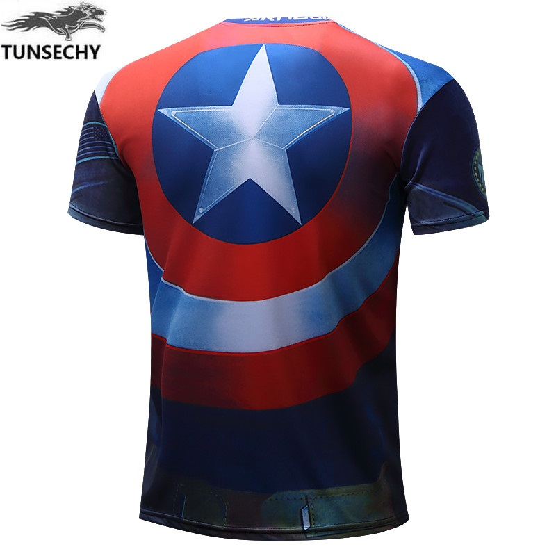 Batman Spiderman Ironman Superman Captain America Winter soldier T shirt Avengers Costume Comics Superhero mens 68