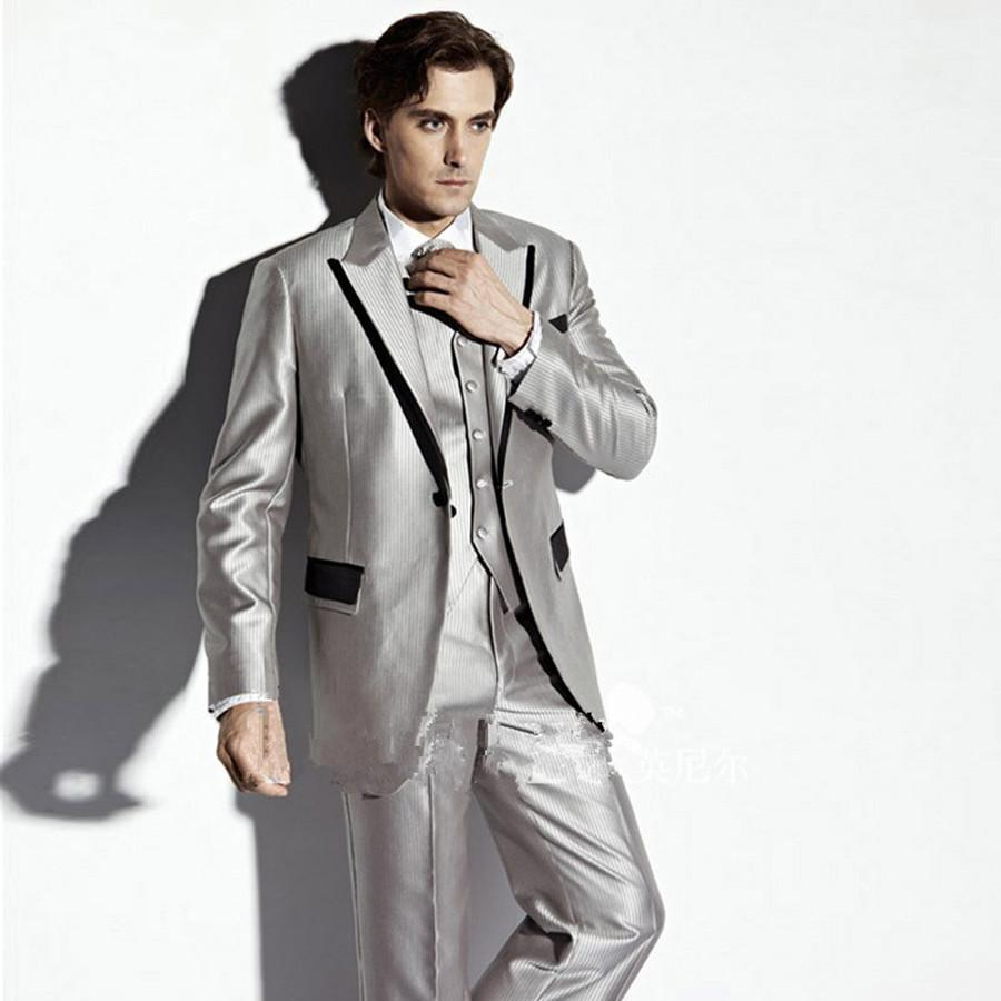 Popular Silver Prom Suits-Buy Cheap Silver Prom Suits lots from