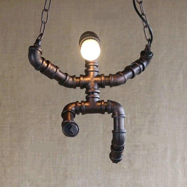 Us 89 99 Tubi Di Acqua Idraulico Soggiorno Camera Da Letto Lampada A Sospensione Vento Industriale Ristorante Negozio Di Abbigliamento Creativo Luci