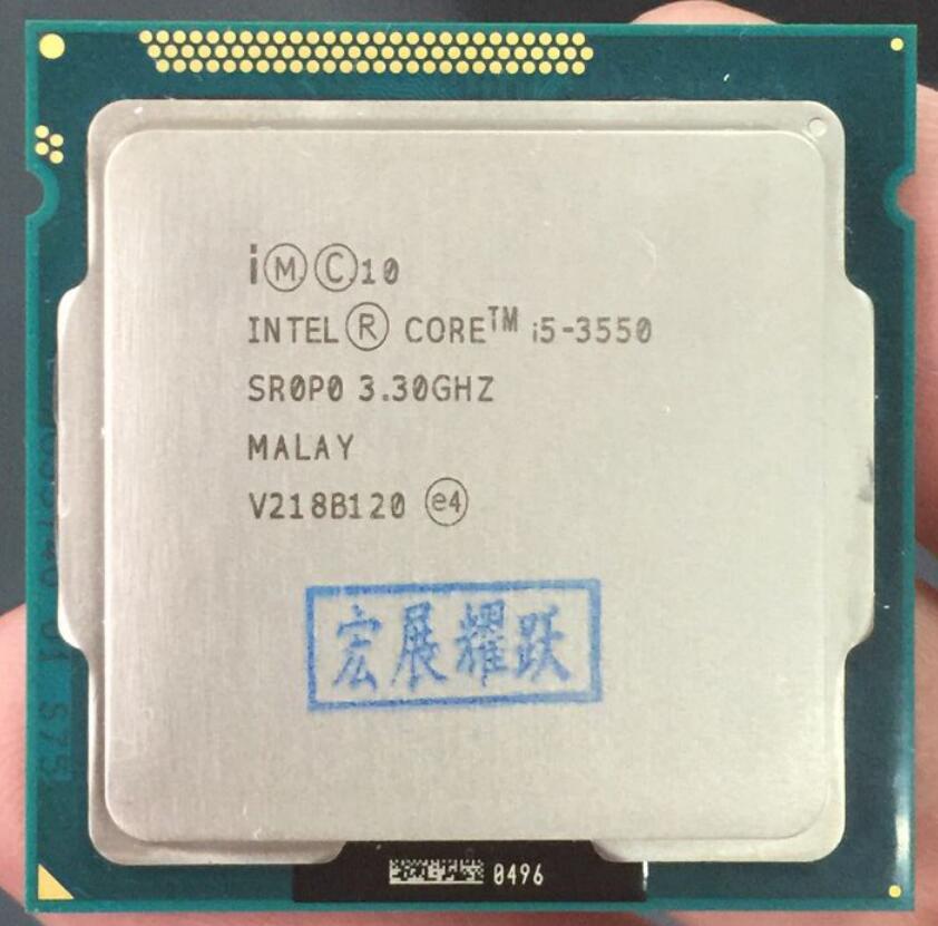 Intel Core i5-3550 i5 3550 Quad-Core Processeur (6 M Cache, 3.3 GHz) LGA1155 ordinateur pc De Bureau CPU