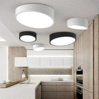 New Modern Geometry White Black Acrylic Led Ceiling Lamp Metal Flush Mount Light For Bedroom Living