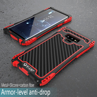 Carbon Fiber Shockproof Metal Phone case For Samsung Galaxy S8 S9 Plus Note 8 Note 9 Shockproof Armor Case For S 8 9 Plus Note9