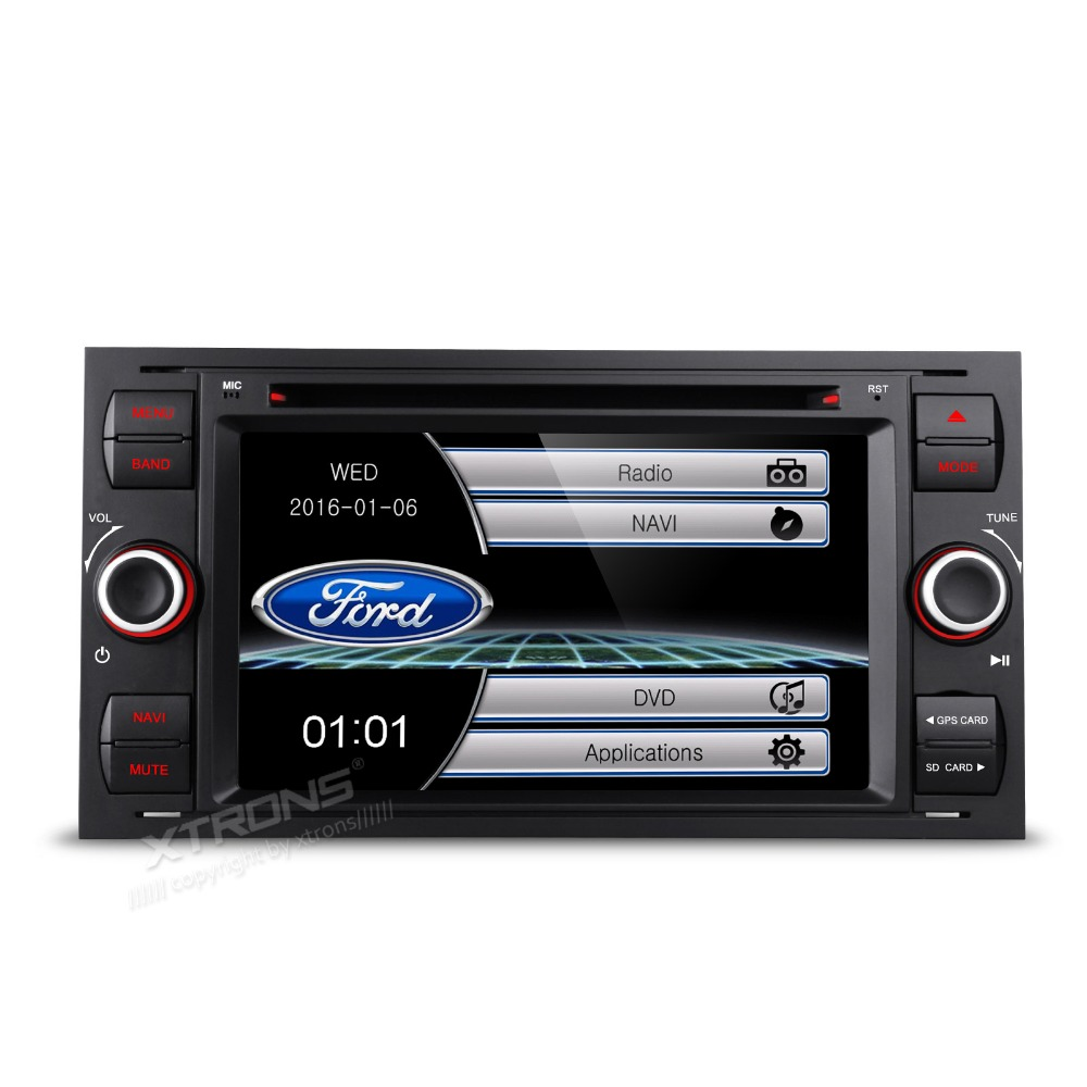 Xtrons 7 black hd digital touch screen 2 din car dvd player with gps navigator
