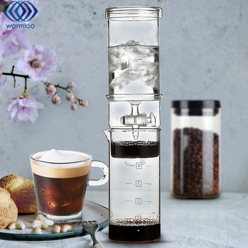 400ML Cold Drip Coffee Home Classic Cold Brew Coffee Iced Coffee Maker Dutch Ice Coffee Maker High Quality eyki h5018 high quality leak proof bottle w filter strap gray 400ml