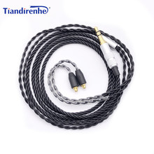 Nowy 4-strand twisted MMCX do słuchawek kabel do Shure SE215 UE900 SE315 SE535 SE846 SE846 i inne modele(China)