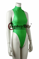 Game Street Fighter V Cammy White Cosplay Women Jumpsuit Fancy Green Bodysuit For Halloween Party Carnival Custom Made