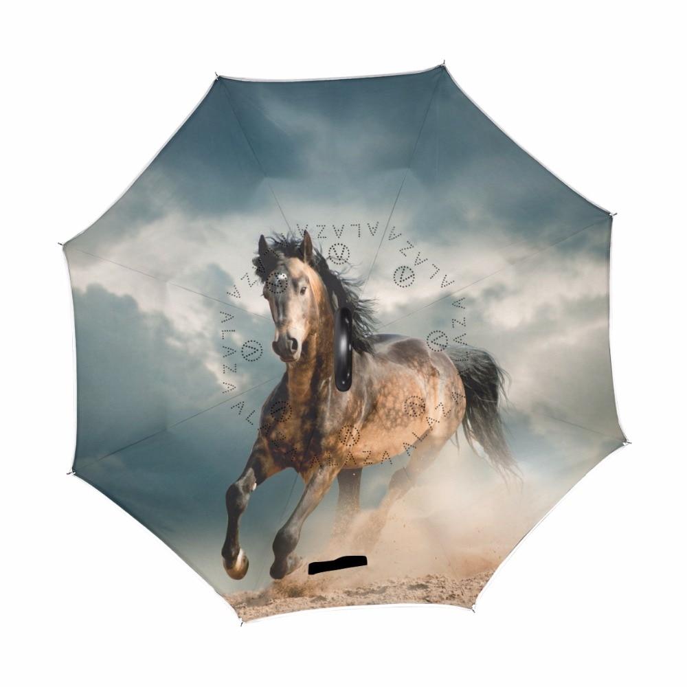Umbrella Horse Custom Umbrella Automatic Folding Umbrella Rainproof /& Windprrof
