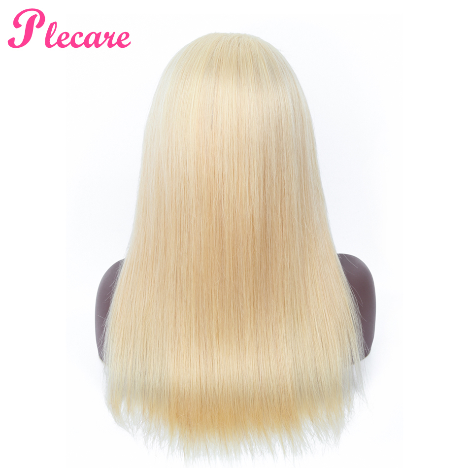 Plecare 4 4 613 Blonde Lace Front Human Hair Wigs For Black Women Brazilian Straight 100