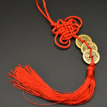 Chinese manual Knot Fengshui Lucky Charms Ancient I CHING Copper Coins Mascot Prosperity Protection Good Fortune Home Car Decor 28
