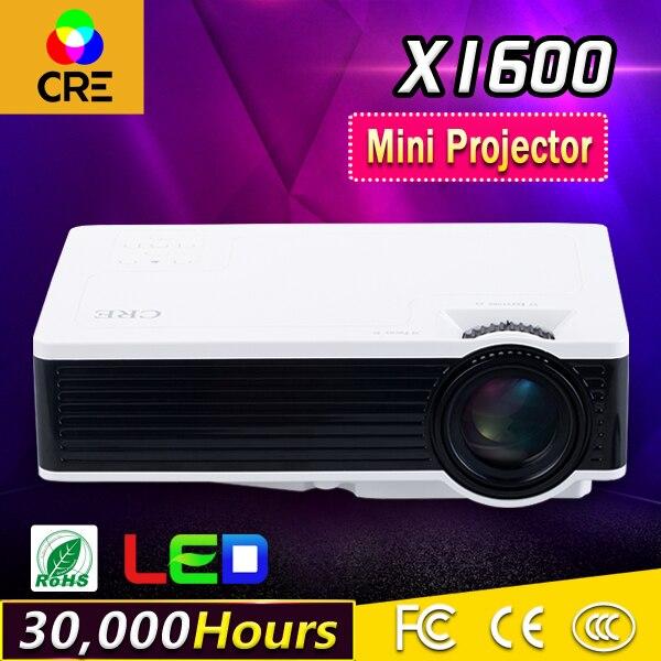 CRE X1600 de Cine En Casa HD 1080 P DLP proyector de Vídeo HDMI USB LED Mini Pro