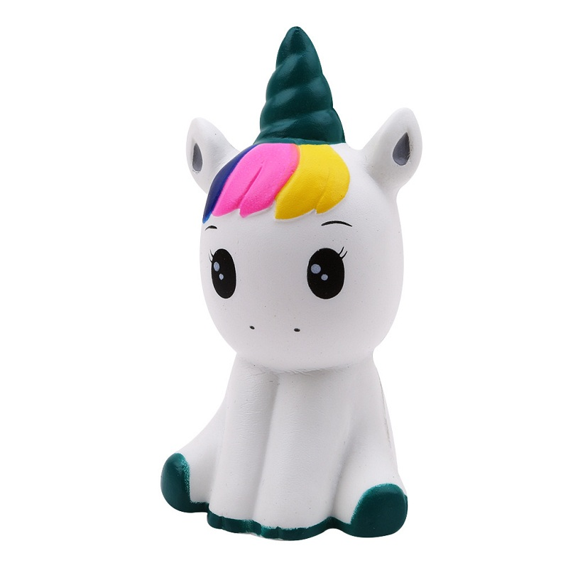 Jumbo Kawaii Colorful Galaxy Unicorn Squishy Doll Slow Rising Stress Relief Squeeze Toys For Baby Kids Xmas Gift 12*6*5cm #5