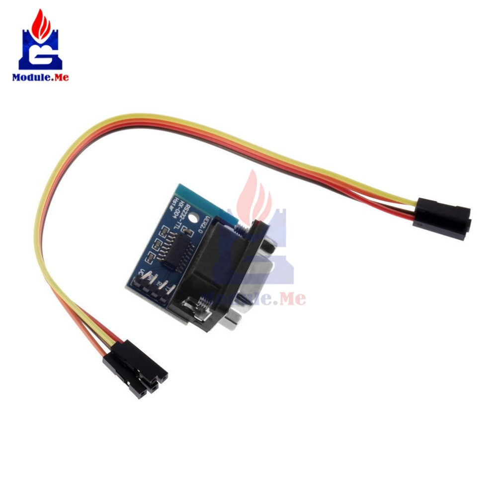 Max3232 Rs232 Serial Port To Ttl Converter Module Male Db9 Connector Level Using Max232 Ic Contor