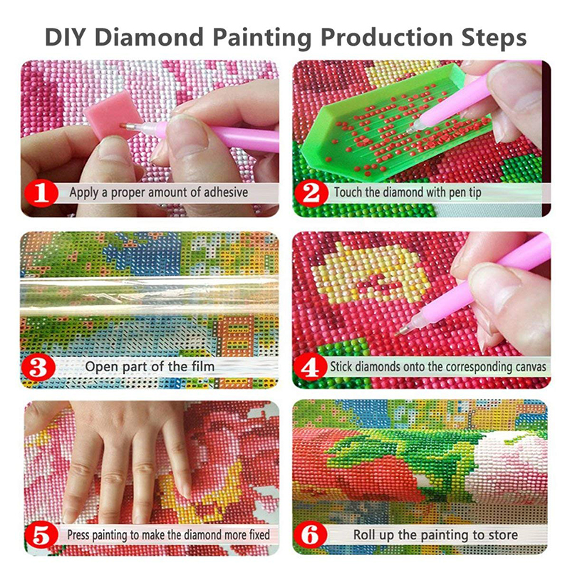 5d diy kits pintura diamante redondo conjunto