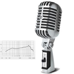 Image 4 - 55SH Retro Mic Professional Ribbon Microphone Sliver Rose Golden 55 sh II Classic Vintage Style Recording Studio Microphone