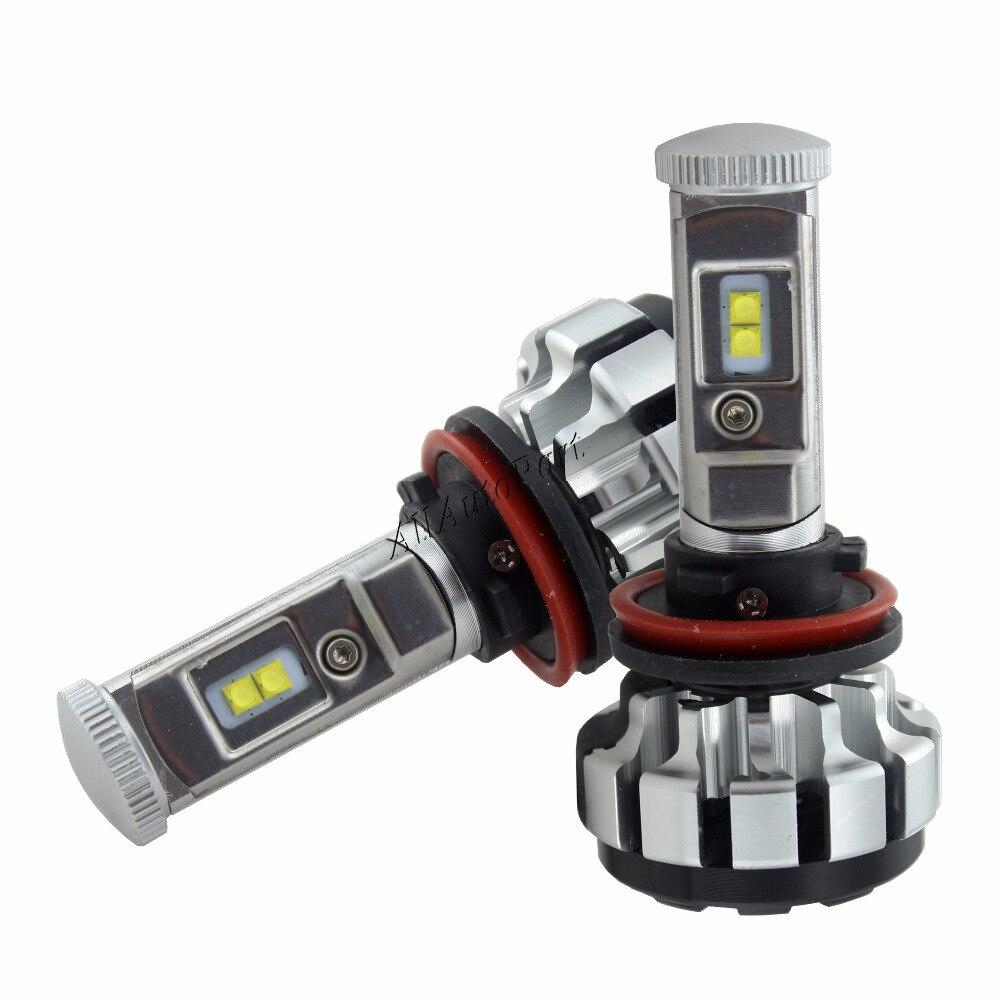 H4 Turbo LED H7 H11 H8 9006 HB4 H1 H3 HB3 H9 H27 Voiture Phares Ampoules T1s lampe à LED Canbus 7200LM Antibrouillards Automatiques 6000 K 4300 k 3000 K