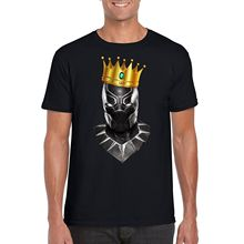 купить Notorious Black Panther T-Shirt, King Of Wakanda Superhero t'challa Parody Top New T Shirts Funny Tops Tee New Unisex Funny Tops дешево