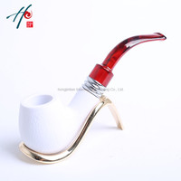 Free Shipping Globe Best Pipes Tabacco White Pipe Carred Healing Cigarette