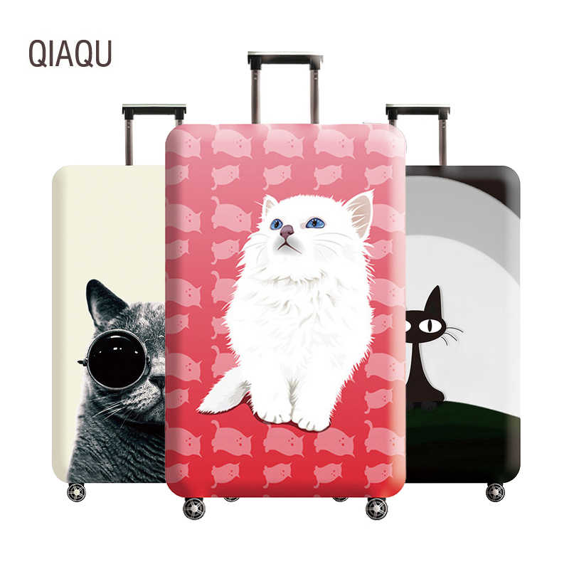 Cute Cat Luggage Cover 18-32 Inch Travel Suitcase Elastic Protective Covers Trolley Trunk Dust Case Travel Accessories