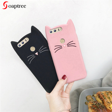 Soaptree Cat Case For Huawei Mate 20 X Cases 3D Cute Cartoon Cover Honor V20 7X 10 8X 6C 4C 6X 9 8 Bumper Funda Capa