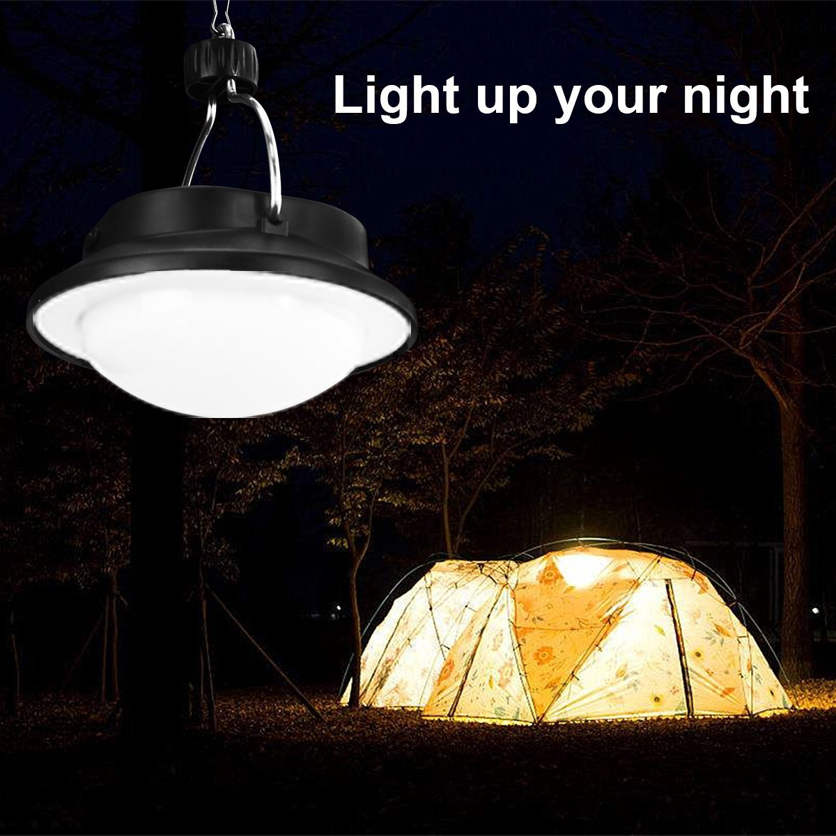 Portable Outdoor Solar Lights Set, Ultra Bright LED Tent Lights for Tent, Camping, Hiking, Travel, Exploration and Home Yard,