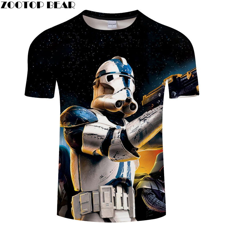Starry Sky Anime Star Wars Men Shirt 3D Print Male Tees Lego Shirts Quick Dry Fitness Breathable Summer Casual Tops ZOOTOPBEAR
