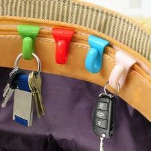 2 шт. мини Встроенный зажим для сумки Предотвращение потери ключа крюк Красочный Держатель клипсы для хранения для нескольких типов сумки внутри хранения крюк