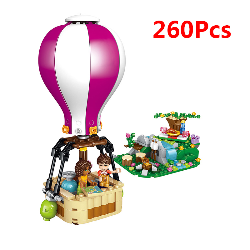 Toys & Hobbies Legoing Friends Summer Holiday Fire Hot Air Balloon 415pcs Building Blocks Toys For Children Compatible With Legoings Friend