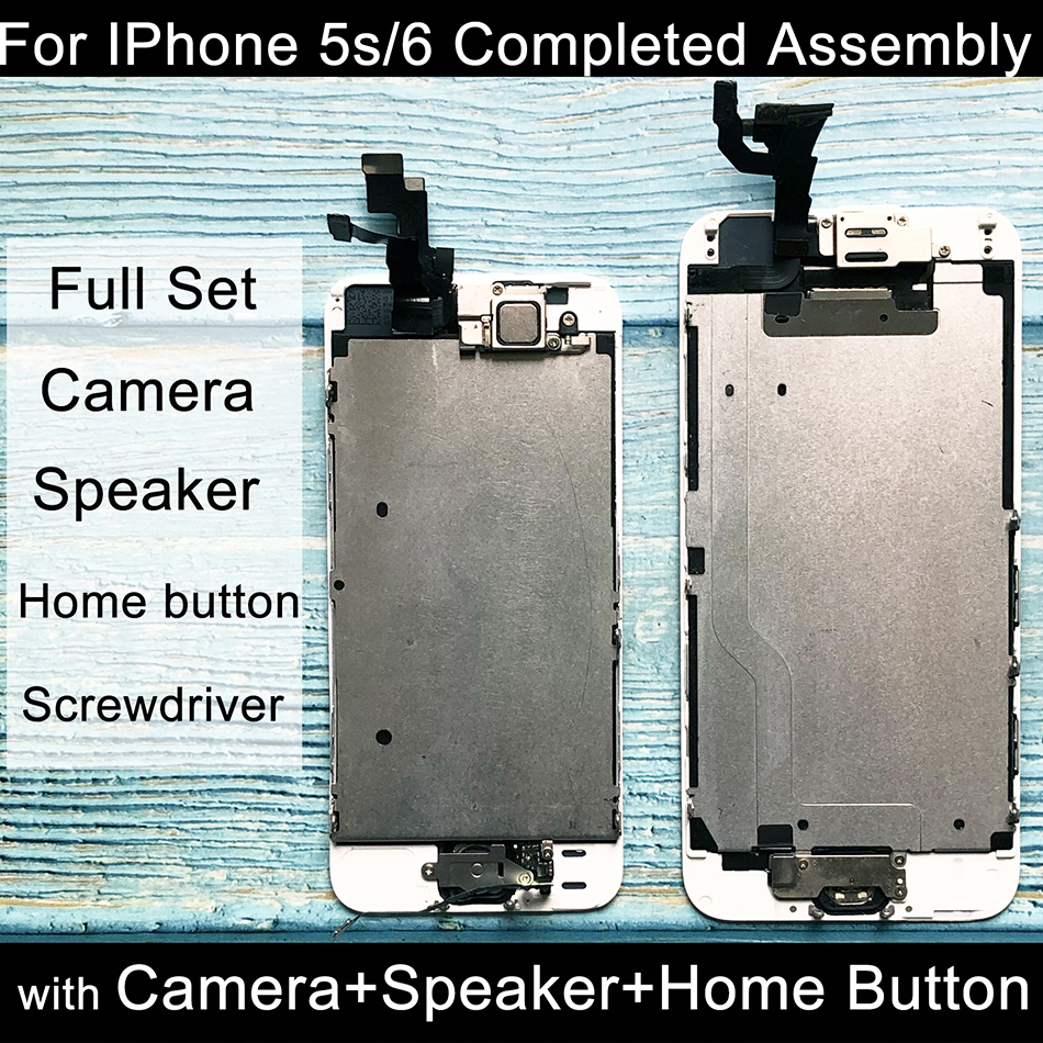 AAA+++ For IPhone 6 LCD Full Set Assembly Complete Touch For IPhone 5S Lcd Screen Replacement Display Camera+ Home Button