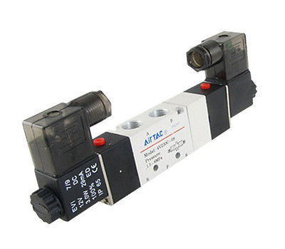 DC12V 4V230C-08 Double Head 3 Position 5 Way Pneumatic Solenoid Valve 29mA 3W 4v230c 08 airtac dc24v 3 position 5 way air solenoid valve pneumatic components