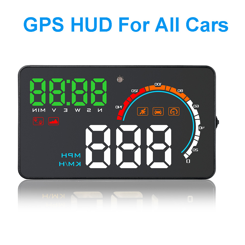 4.0 Inch GPS Speedometer Head Up Display Windshield Projector On-board Computer Auto HUD Car Display Proyector Overspeed Warning цена