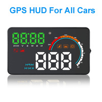 4.0 Inch GPS Speedometer Head Up Display Windshield Projector On board Computer Auto HUD Car Display Proyector Overspeed Warning