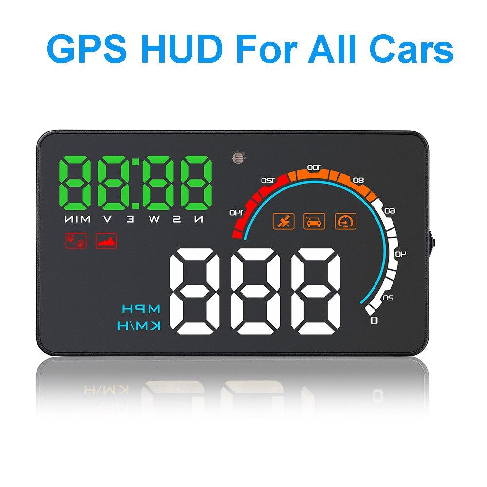 4.0 pouce GPS Compteur Head Up Display Pare-Brise Projecteur Ordinateur de bord Auto HUD Voiture Affichage Proyector de Survitesse Avertissement