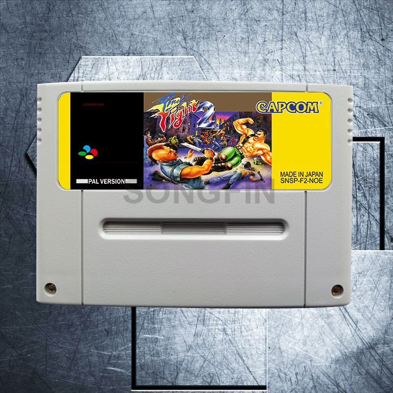 Final Fight 2 16 Bit Big Gray Game Cartridge for PAL/EUR Version Game Console