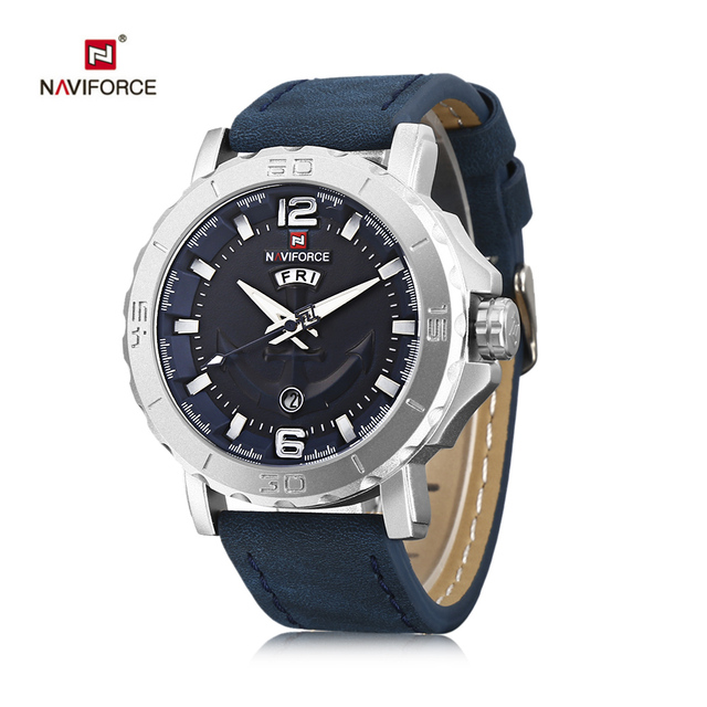 9ce475fdce7 NAVIFORCE 9122 Homens Esporte Militar Relógios Homens de Luxo Da Marca  Analógico de Quartzo Relógio de