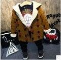 2016 Nuevo Invierno Niño Soldado de cordero Felpa acolchada chaqueta gruesa capa de lana del todo-fósforo del envío libre