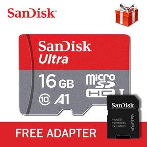 Image 2 - original sandisk class10 de tarjeta sd micro tf card 16gb 32 gb 64 gb 128 gb 100MB/S tarjeta de memoria Mobile phone memory card