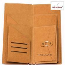Крафт-бумага конверт Папка Держатель для карт L M S для блокнота путешественника из воловьей кожи дневник заправка