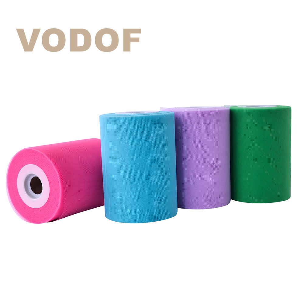 Tutu Tulle Spool Roll Fabric Birthday Party Gift Wrap Wedding Decoration Crafts Bow VODOF Quality 6 inch 100 Yards 30 Colors
