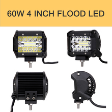 ECAHAYAKU 2pcs/1pair 4 inch led work light bar 9W/18W/36W/27W off road fog driving lamp for jeep ATV SUV Motorcycle 4x4 auto 4WD 2pcs 36w car led light offroad work light bar for jeep 4x4 4wd awd suv atv golf cart driving lamp motorcycle fog light vehicle