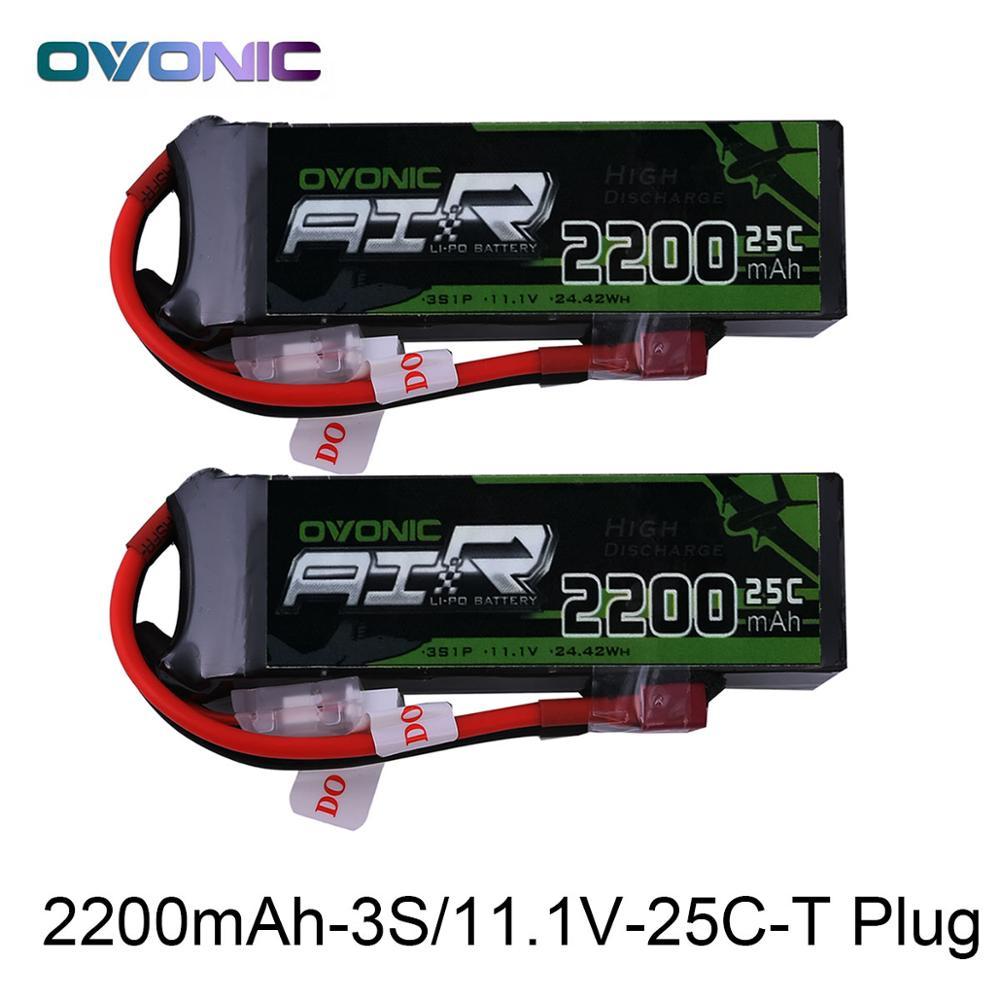 OVONIC batería LiPo RC 2200 mAh 3 s 11,1 V 25C Max 50C Paquete de batería con XT60 T enchufe para Phantom FC40 repuestos Walkera E22 RC barco Coche