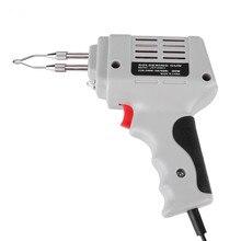 판매 전기 납땜 인두 총 뜨거운 공기 열 총 손 용접 도구 솔더 와이어 용접 수리 도구 키트 EU 220V 100W