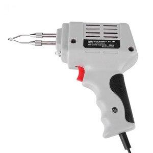 Image 1 - Pistola de ferro para solda, venda de pistola de ferro de solda elétrica pistola de ar quente calor ferramenta de solda à mão com fio de solda kit de ferramentas de reparo de solda eu 220v 100w