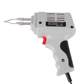 Sprzedaży elektryczna lutownica pistolet gorące powietrze opalarka ręczne narzędzie spawalnicze z drut lutowniczy przyrządy do lutowania zestaw ue 220V 100W tanie i dobre opinie smilemango CN (pochodzenie) Electric Soldering Irons As shown Soldering Iron Gun 220-240V
