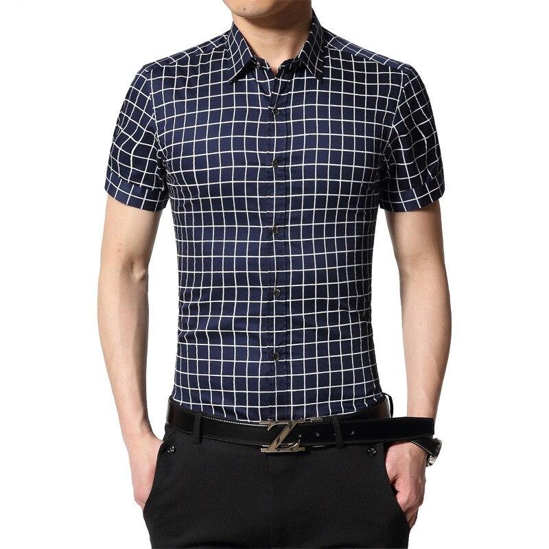 Homens Da Moda verão Camisa de Manga Curta Casuais Camisas de Vestido  Masculino Plus Size M-5XL Camisa Masculina Sociais camisa masculina de alta  qualidade 0ccc963c424c4