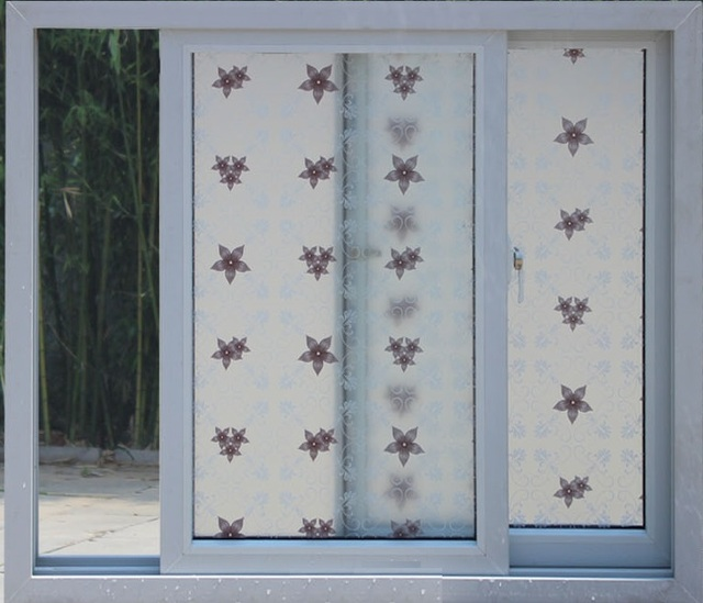 Stainded glass window film colours self adhesive decorative frosted privacy decals 9903 width 60cm 75cm