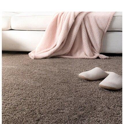 Table basse tapis salon simple moderne canapé tapis chambre style japonais épais solide couleur tapis