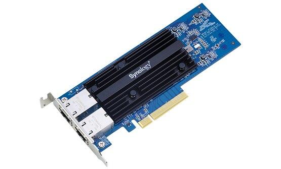 Synology E10G18-T2, Interne, Filaire, PCI-E, Ethernet, 10000 Mbit/s, Noir, Bleu