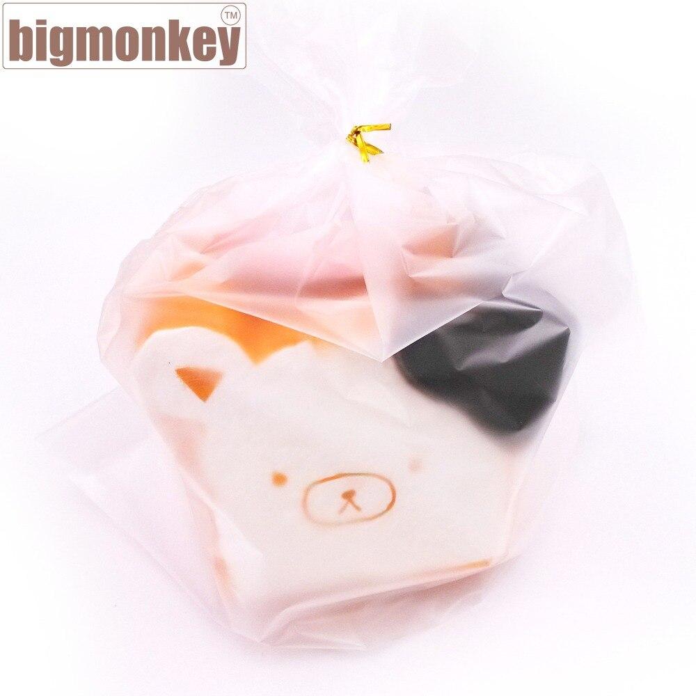 imágenes para Mono grande Nueva venta caliente 10 unids kawaii jumbo para la venta de rilakkuma rare blando toast blando super lento aumento de apriete juguete